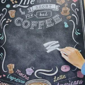Υπεροχο παζλ chalk board coffee