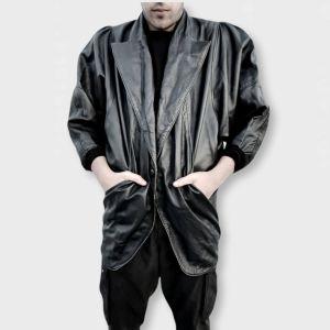Δερμάτινο vintage jacket μαύρο!
