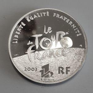 France 2003 proof 1oz 999 ασημι