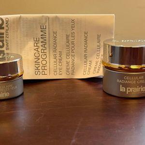 La Prairie Authentic Skincare Programme Cellular Radiance Eye Cream 3ml & Cellular Radiance Cream 7ml και οδηγίες RRP130€ Sample sizes Great Prices