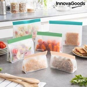 Σετ Ερμητικών Επαναχρησιμοποιήσιμων Σακουλιών Zags InnovaGoods 6 τεμάχια