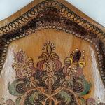 Δίσκος ξύλινος σκαλιστός εποχής 1970