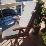 Τραπέζι κ καρέκλες ακακία με μαξιλάρια διπλής όψης