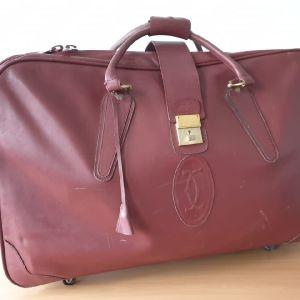 CARTIER Travel Bag Βαλίτσα Ταξιδιού Δερμα Vintage Αυθεντική 100%