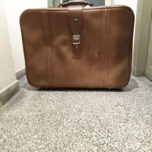 Βαλίτσα ταξιδιού VINTAGE, μάρκας <FLIGHT TIME>, με ροδάκια, αδιάβροχη