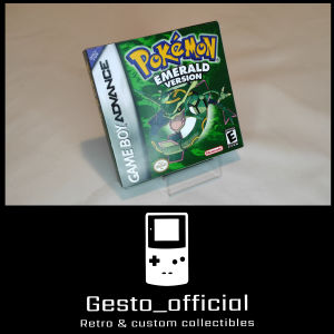 Pokemon Emerald Gameboy Advance custom box Gesto_official