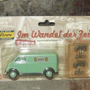 καινούργιο REWE φορτηγάκι μεταλλικό 1/43 DKW και μανικετόκουμπα