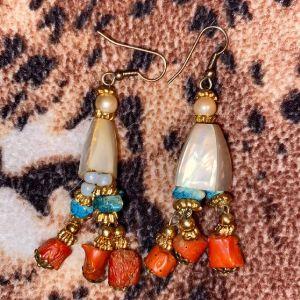 Χειροποίητα σκουλαρίκια με κοράλλι
