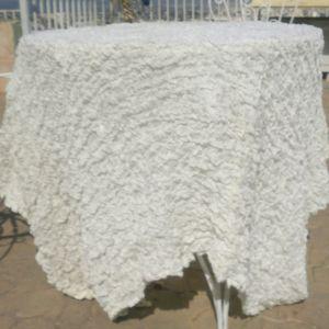 Ριχτάρι γκοφρέ σε λευκό χρώμα, ολοκαίνουργιο, πανέμορφο για κάθε χώρο. Συνοδεύεται με όμοιο ολομέταξο μαξιλάρι σε άσπρο χρώμα με γέμισμα.