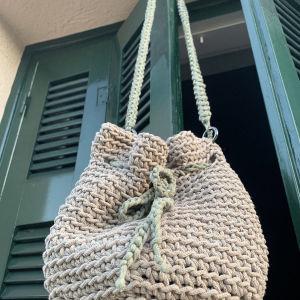 Πλέκτη τσάντα πουγκί