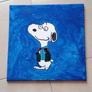 Χειροποίητος καμβάς Snoopy δωρεάν έξοδα αποστολής