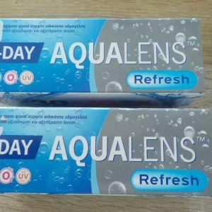 Ημερήσιοι φακοί επαφής Aqualens -3.00 και -2.50
