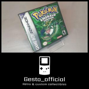 Pokemon Emerald Gameboy Advance custom case