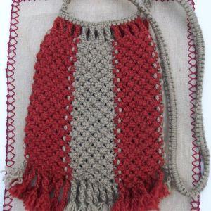 Παραδοσιακό Ταγάρι, Τσάντα Μακραμέ ώμου, Macrame handbag, shoulder bag by MariasCrafts