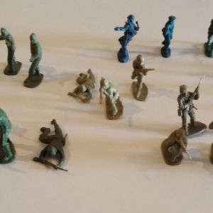 Set of 24 Vintage Soldiers Different Nationalities and Colours