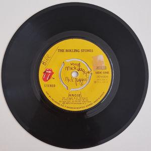 """ROLLING STONES ANGIE 7"""" VINYL RECORD"""