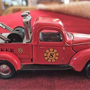 πυροσβεστικό όχημα vintage, μεταλλική μινιατούρα