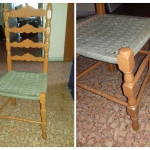 3 καρέκλες ξύλο μασίφ