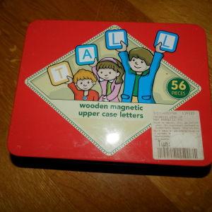 elc παιχνιδι με ξυλινα μαγνητικα γραμματα