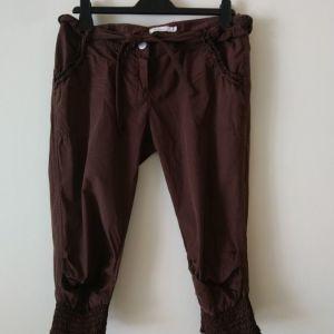 παντελόνια μέχρι το γόνατο Tensione In made in Italy size 44 IT χρώμα καφέ