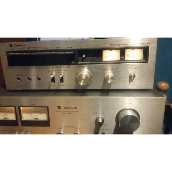 Vintage sigkrotima   NATIONAL PANASONIC TECHNICS 1970 amplifier su 7300 phono  sl 23 cassette  deck  610 speakers SB 4000