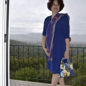 Μπλε ρουά φόρεμα
