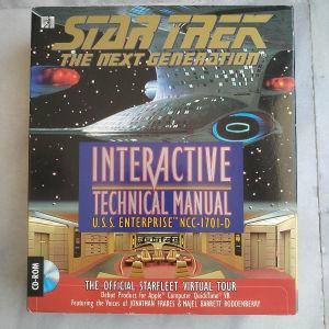 PC CD ROM game STAR TREK THE NEXT GENERATION INTERACTIVE TECHNICAL MANUAL USS ENTERPRISE
