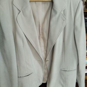 Γυναικείο καθημερινό σακάκι χρώματος μπεζ - Large