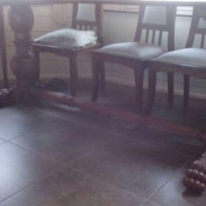 Τραπεζαρια Αντίκα συλλεκτική 19ου αιωνα με σκαλιστα λιονταροπόδαρα σε πολύ καλή κατάσταση (τραπεζι- 4καρεκλες-2 πολυθρόνοκαρεκλες)