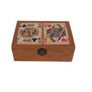 Ξύλινο κουτί με 2 τράπουλες