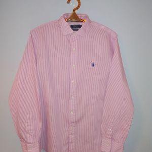 Ralph Lauren πουκάμισο ροζ ρίγες