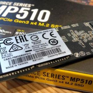 Corsair Force MP510 SSD 960GB M.2 NVMe