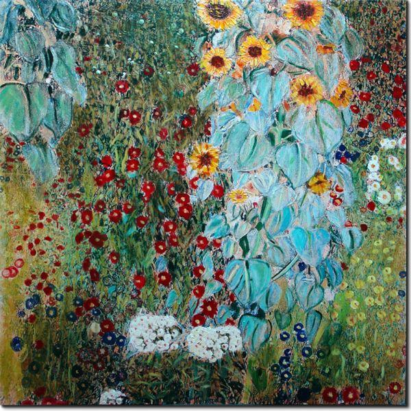 pinakes zografikis-antigrafa-il Giardino di Campagna by Klimt