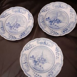 3 Very old decorations plates