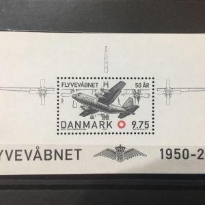 DENMARK(ΔΑΝΙΑ) 2000 ΠΟΛΕΜΙΚΗ ΑΕΡΟΠΟΡΙΑ BLOCK MNH