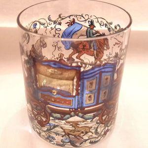 Ποτήρια ουίσκυ vintage ζωγραφισμένα στο χέρι