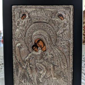 """Εικόνα από ασήμι (925) """"Άξιον Εστί"""""""
