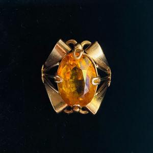 Χρυσό δαχτυλίδι 14Κ με σιτρίν