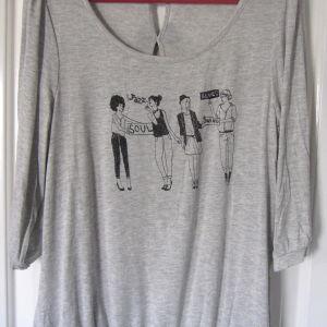 Μπλούζα Promod, γκρί με μαύρα σχέδια