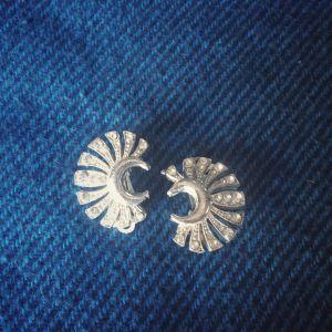 σκουλαρίκια με Swarovski ,κλιπ ,vintage