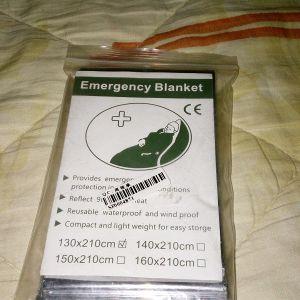 Ισοθερμικη Κουβερτα Επιβιωσης Εκτακτης Αναγκης