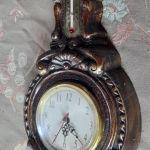 συλλεκτικό ρολόι.. βαρόμετρο ....θερμόμετρο....εποχής 1950 60