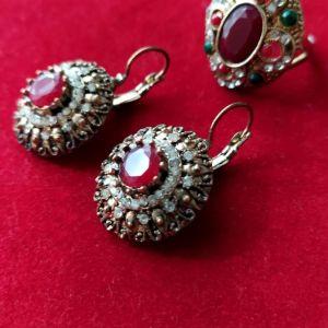 Σετ σκουλαρίκια - δαχτυλίδι