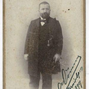 Παλιά Φωτογραφία Άνδρα Φωτογράφος Carl Boehringer Αθήνα 1899