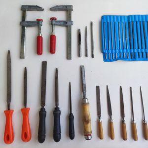 30 λίμες και 2 σφιχτηράκια ξυλουργικά