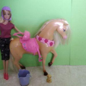 Κούκλα Barbie με άλογο