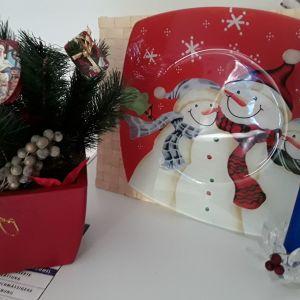 Σετ χριστουγεννιάτικα διακοσμητικά 3 τεμάχια