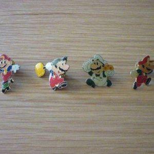 vintage pins καρφίτσες Super Mario Land Nintendo