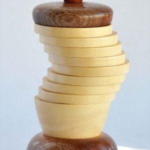 Βαζάκι Ξύλο Σημύδα Μπαντούκ Ξυλοτορνευτό Χειροποίητο Μοναδικό Συλλεκτικό Δώρο, 20x9cm_0141