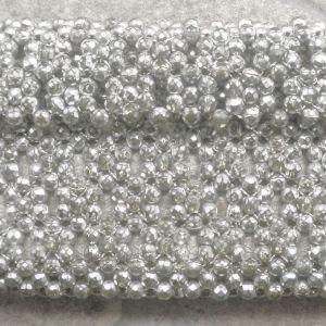 Τσαντάκι αμπιγέ χειρός, με μαργαριτάρια και στρας , ασημί, διαστάσεων 20χ13 εκατοστά.